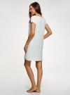 Платье с аппликацией и V-образным вырезом oodji #SECTION_NAME# (белый), 59801018-2/44135N/1229P - вид 3