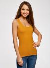 Майка базовая oodji для женщины (желтый), 14315002B/46154/5200N - вид 2