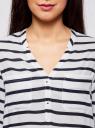 Блузка принтованная из вискозы oodji #SECTION_NAME# (белый), 11411049/24681/1079S - вид 4
