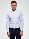 Рубашка принтованная из хлопка oodji #SECTION_NAME# (синий), 3B110027M/19370N/1078G - вид 2