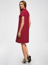Платье-поло из ткани пике oodji для женщины (красный), 24001118-4B/48433/4900N
