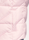Жилет стеганый с капюшоном oodji для женщины (розовый), 19400016-3B/48931/4001N