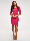 Платье трикотажное с рукавом 3/4 oodji для женщины (розовый), 24001100/42408/4D00N - вид 2
