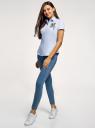 Рубашка хлопковая с вышивкой oodji #SECTION_NAME# (синий), 13K01004-6/14885/7019P - вид 6