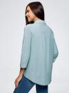 Рубашка свободного силуэта с удлиненной спинкой oodji #SECTION_NAME# (зеленый), 13K11002B/45387/6E10S - вид 3
