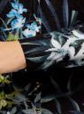 Жакет вязаный с цветочным принтом oodji #SECTION_NAME# (черный), 73212400/45755/2919F - вид 5