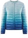 Куртка стеганая с круглым вырезом oodji #SECTION_NAME# (синий), 10204040-1B/42257/7075T