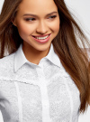 Блузка из ткани деворе oodji #SECTION_NAME# (белый), 11405092-5/26206/1000N - вид 4
