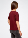 Футболка хлопковая с вышивкой oodji для женщины (красный), 14801059-4/46155/4919P