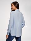 Блузка вискозная с нагрудными карманами oodji #SECTION_NAME# (синий), 11411127-1B/42807/7000N - вид 3