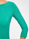 Футболка с рукавом 3/4 oodji для женщины (зеленый), 24201010B/46147/6D00N