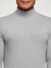 Свитер базовый из хлопка oodji для мужчины (серый), 4B312003M-1/34390N/2302M - вид 4