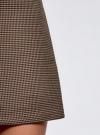 Юбка-трапеция короткая oodji #SECTION_NAME# (бежевый), 11600413-4/45930/3339G - вид 4