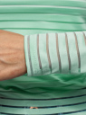 Лонгслив трикотажный прямого силуэта oodji для женщины (зеленый), 14201046-1/33520/6500N