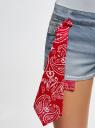 Шорты джинсовые с банданой oodji #SECTION_NAME# (синий), 12807088/46787/7000W - вид 5