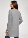 Кардиган без застежки с накладными карманами oodji для женщины (серый), 19208002/45723/2300M