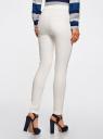 Джинсы-легинсы на эластичном поясе oodji для женщины (белый), 12104043-7B/46261/1200N