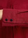 Рубашка в мелкую графику с карманами oodji #SECTION_NAME# (красный), 21441095/43671/4549G - вид 5