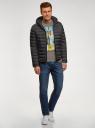 Куртка стеганая с капюшоном oodji #SECTION_NAME# (черный), 1B112009M/25278N/2900N - вид 6