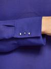 Блузка свободного силуэта с вырезом-капелькой на спине oodji #SECTION_NAME# (фиолетовый), 11411129/45192/7500N - вид 5
