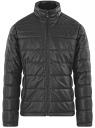 Куртка стеганая из искусственной кожи oodji #SECTION_NAME# (черный), 1L111055M/47397N/2900N