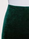 Юбка бархатная прямого силуэта oodji #SECTION_NAME# (зеленый), 14101102-1B/48470/6900N - вид 4