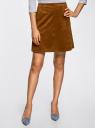 Юбка в стиле вестерн из искусственной замши oodji для женщины (коричневый), 11600422/45370/3700N