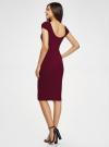 Платье миди с вырезом на спине oodji #SECTION_NAME# (красный), 24001104-5B/47420/4900N - вид 3