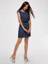 Платье принтованное из вискозы oodji #SECTION_NAME# (синий), 11910073-2/45470/7912D - вид 6
