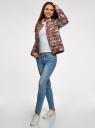 Куртка стеганая с круглым вырезом oodji #SECTION_NAME# (красный), 10204040-1B/42257/4920E - вид 6
