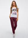 Комплект трикотажных брюк (2 пары) oodji #SECTION_NAME# (разноцветный), 16700030-15T2/47906/19NDN - вид 6