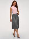 Топ из струящейся ткани с декором на воротнике oodji для женщины (розовый), 14911006-1/43414/4001N - вид 6
