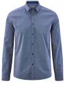 Рубашка хлопковая приталенная oodji для мужчины (синий), 3L110306M/19370N/7579G