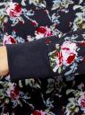 Свитшот принтованный с круглым вырезом oodji для женщины (синий), 14807021-1/46919/7975F