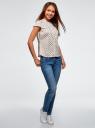 Рубашка реглан с воротником-стойкой oodji #SECTION_NAME# (белый), 13K03006-1B/26357/1252G - вид 6