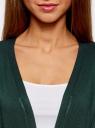 Кардиган без застежки с карманами oodji #SECTION_NAME# (зеленый), 63212589/24526/6E00N - вид 4