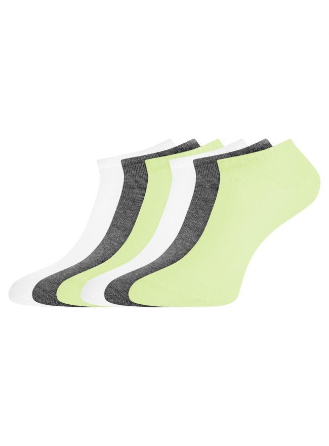 Комплект укороченных носков (6 пар) oodji для женщины (разноцветный), 57102433T6/47469/89