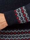 Пуловер вязаный с отложным воротником oodji для мужчины (синий), 4L205025M/25365N/7945N - вид 5