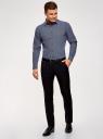 Рубашка принтованная из хлопка oodji #SECTION_NAME# (синий), 3L110308M/19370N/7510F - вид 6