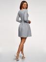 Платье трикотажное приталенное oodji #SECTION_NAME# (серый), 14011005-4/47420/2010Z - вид 3