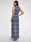 Платье макси с завязкой на поясе oodji #SECTION_NAME# (синий), 24005138/45509/7925E - вид 3