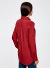 Блузка базовая из вискозы oodji #SECTION_NAME# (красный), 11400355-3/26346/3100N - вид 3