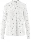 Блузка вискозная А-образного силуэта oodji #SECTION_NAME# (белый), 21411113-1B/48458/1229O