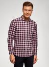 Рубашка хлопковая с нагрудным карманом oodji #SECTION_NAME# (красный), 3L310187M/49364N/7945C - вид 2