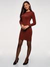 Платье вязаное базовое oodji для женщины (красный), 73912217-2B/33506/4900N - вид 6