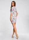 Платье трикотажное облегающее oodji #SECTION_NAME# (розовый), 14001121-3B/16300/4073F - вид 3