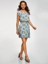 Платье вискозное без рукавов oodji #SECTION_NAME# (бирюзовый), 11910073B/26346/6541F - вид 6