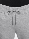 Брюки трикотажные на завязках oodji #SECTION_NAME# (серый), 16701053-1/47906/2391Z - вид 4