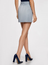 Юбка легкая с завязками oodji для женщины (синий), 11600378-1/42630/7000N