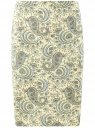 Юбка прямого силуэта базовая oodji #SECTION_NAME# (желтый), 21608006-3B/14522/5070E